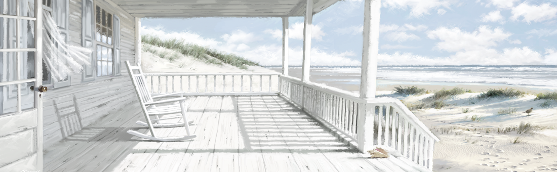 fotokunst beach house 60x150