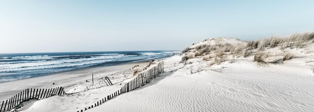 Fotokunst strand en duinen 60x150