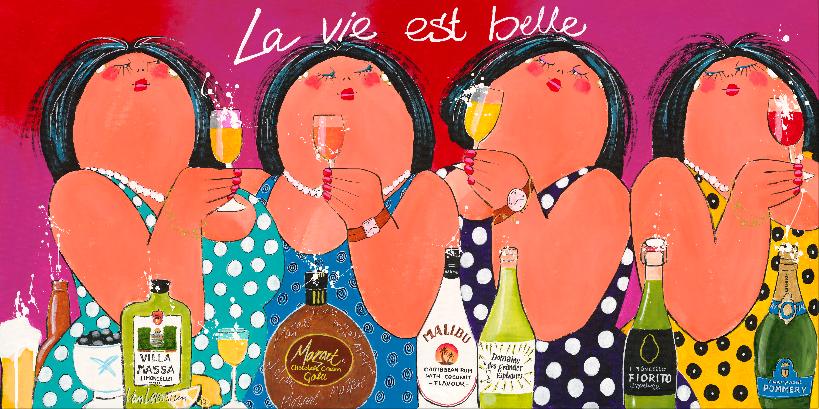 Dikke Dames La Vie est Belle 70x140
