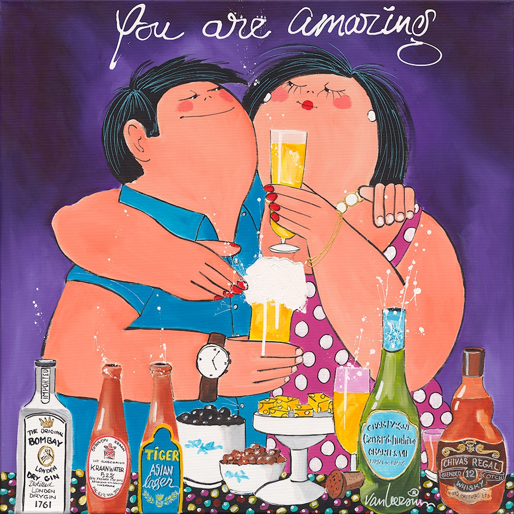 Dikke Dames 'You are amazing' 70x70