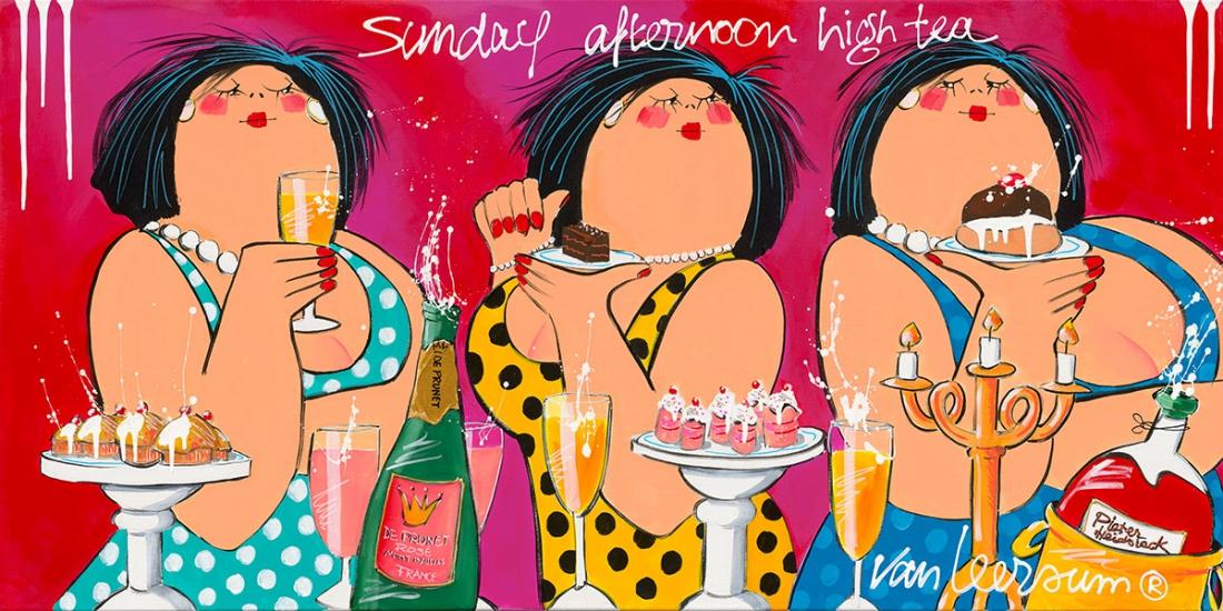 Dikke Dames 'Sunday afternoon high tea' 70x140