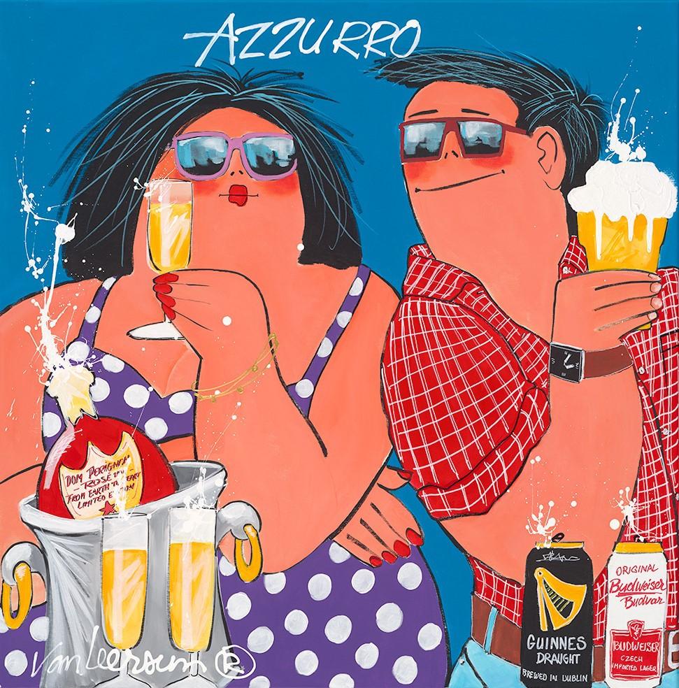 Dikke Dames 'Azzurro' 70x70