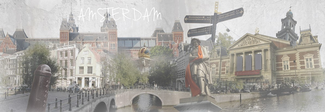 Schilderij Amsterdam 60x150