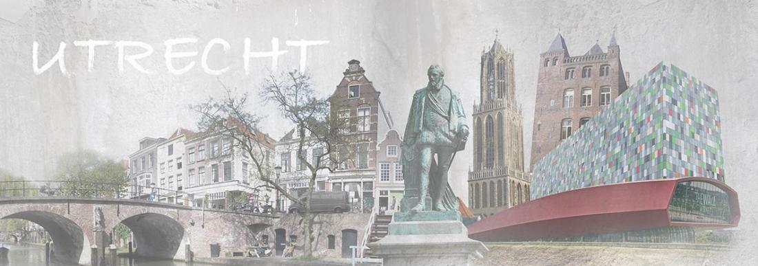 Schilderij Utrecht 60x150