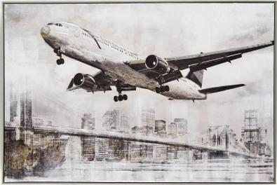 Schilderij vliegtuig 82x122