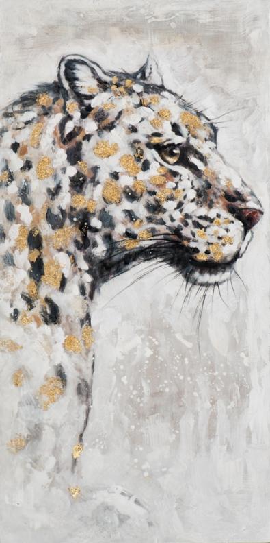 Schilderij luipaard 120x60