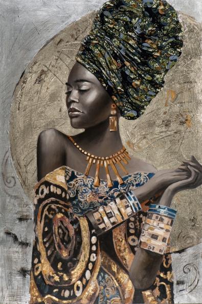 schilderij vrouw 100x150