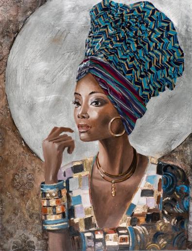 schilderij vrouw 115x150