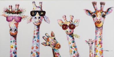 Schilderij giraffen 50x100