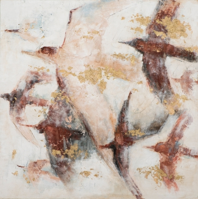 Schilderij vogels 100x100