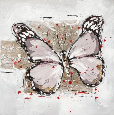 schilderij vlinder 25x25