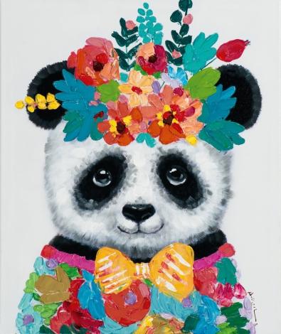 Schilderij panda 60x50