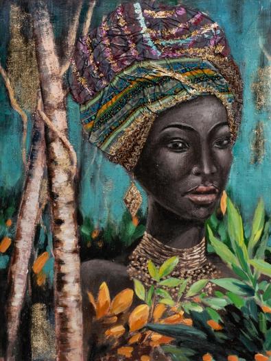Schilderij vrouw 90x120