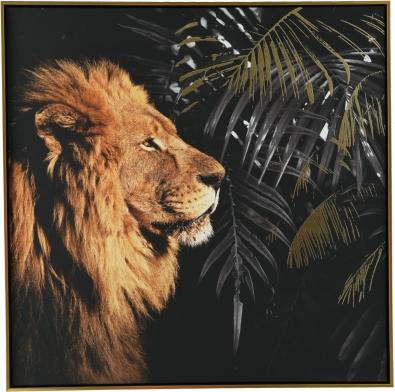 Schilderij leeuw 82x82