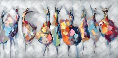 Schilderij danseressen 100x200