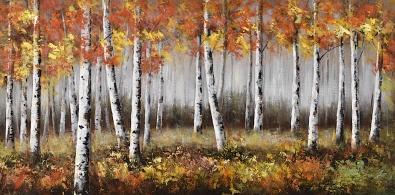 Schilderij berken bos 70x140