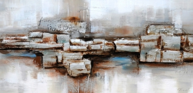 schilderij abstract 70x140
