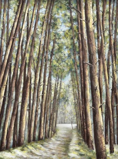 Schilderij bomenlaan 75x100