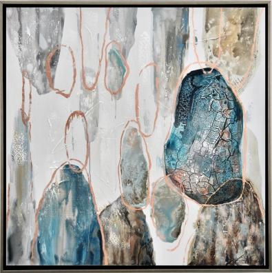 Schilderij abstracte cirkels 102x102