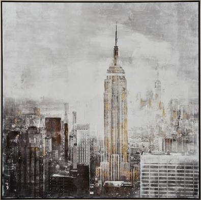 Schilderij skyline 102x102