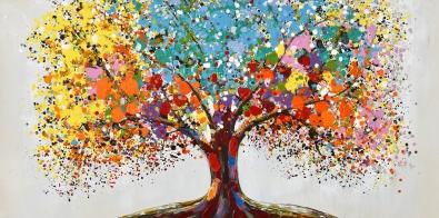 schilderij boom 70x140