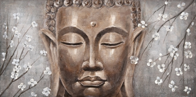 Schilderij boeddha 60x120