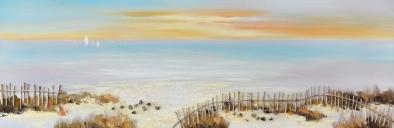 Schilderij strand leven 50x150