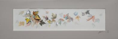 Schilderij bladeren 50x150