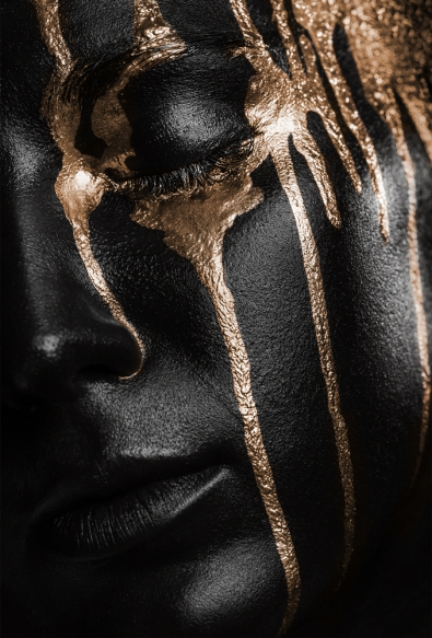 Dripping gold op glas 70x100