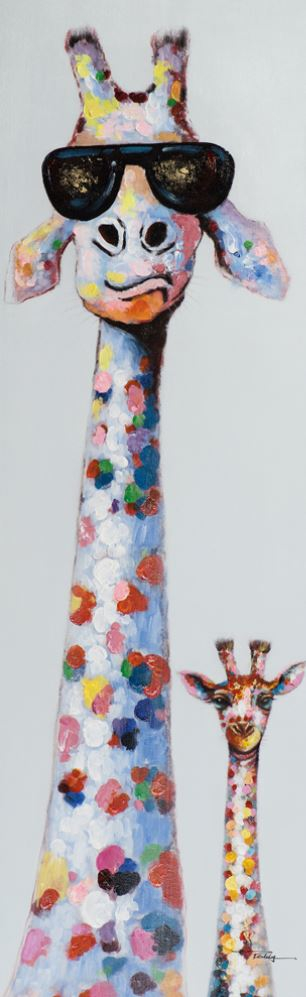Schilderij giraffe 50x160