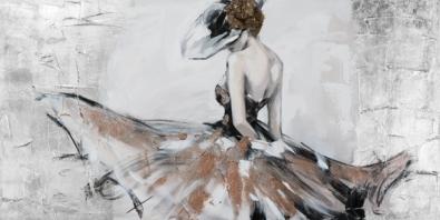 schilderij danseres 70x140