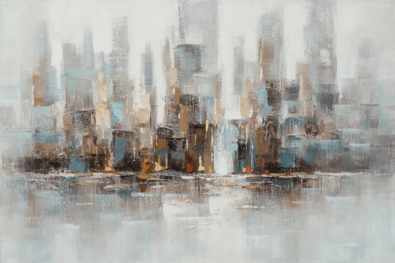 schilderij 80x120 Stad skyline modern NIEUW!
