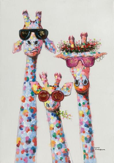 Schilderij giraffen 70x100