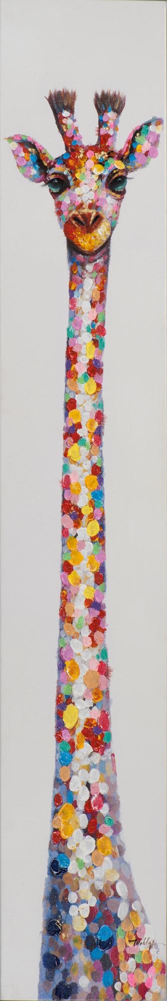 schilderij giraf 25x150