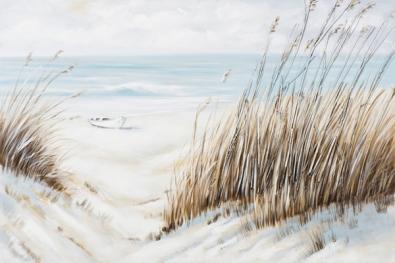 schilderij duinen en strand 80x120