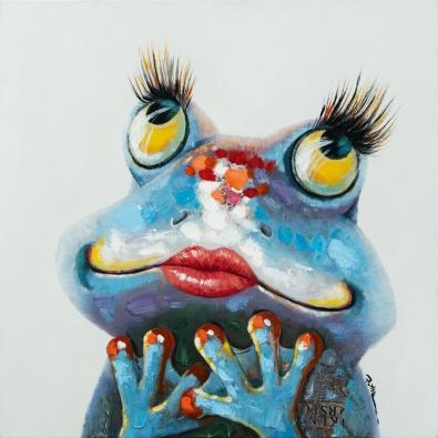 schilderij verliefde kikker 70x70
