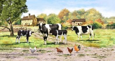 Koeien 70x140