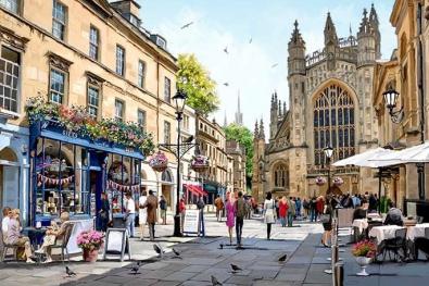Plein in Bath, Engeland 75x100