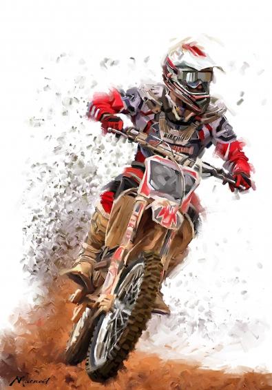 Motorcrosser 100x75