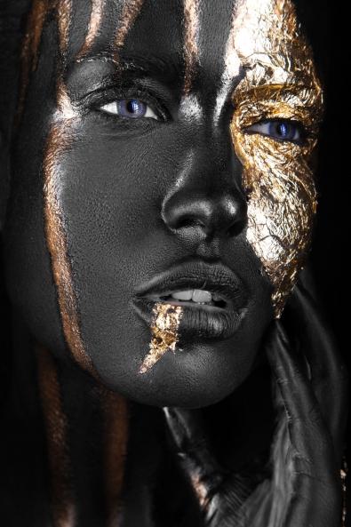 Fotokunst Gold part II 100x75