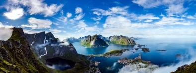 Fotokunst panorama berglandschap 60x150