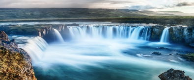 Fotokunst waterval 60x150