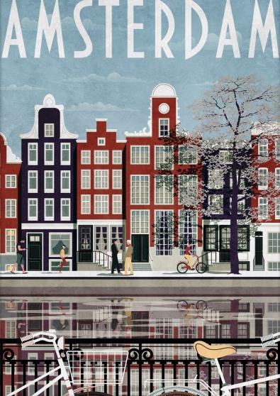 Schilderij Amsterdam 75x100