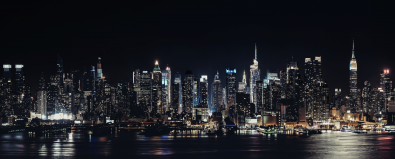 fotokunst skyline by night 70x140