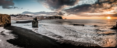 fotokunst kust met rots 60x150