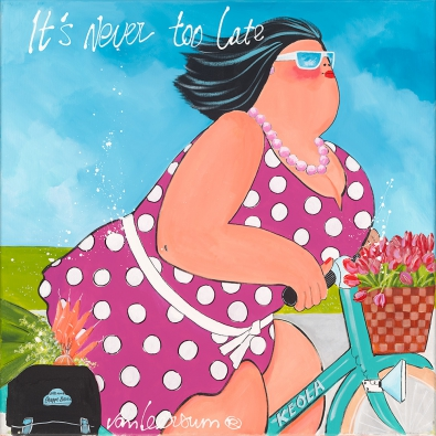 Dikke Dames 'It's never too late' 70x70