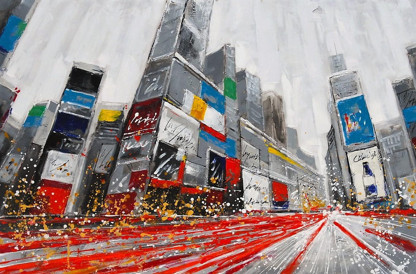 Stad schilderij