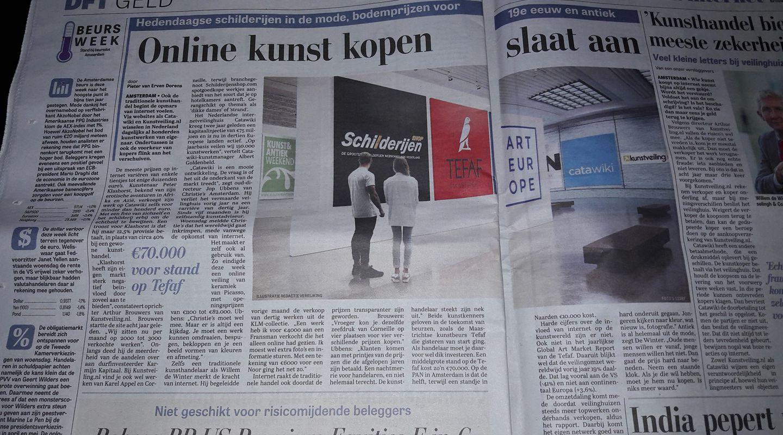 Schilderijenshop in de Telegraaf