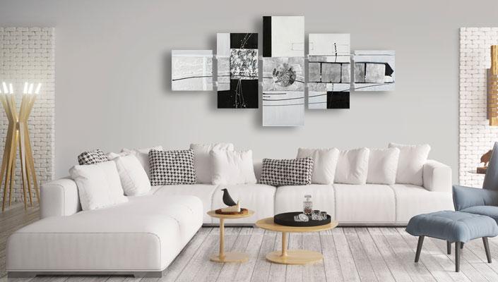 5 delig modern schilderij