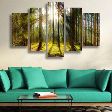 Banner 5 delige schilderijen